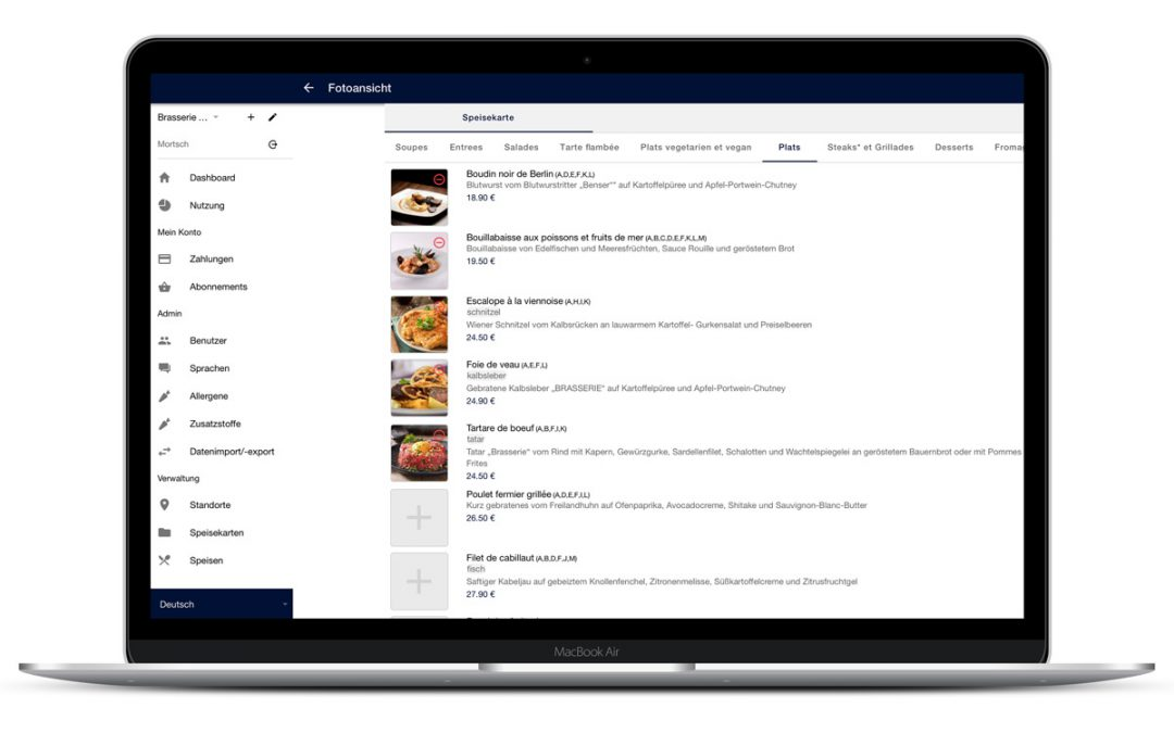 Digital food menus – why restaurants should switch in 2019/ 2020 and start using them